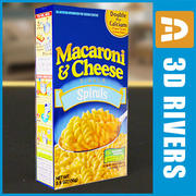 Macaroni and cheese box by 3DRivers 3d model
