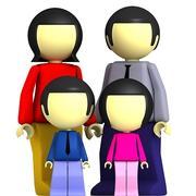 Famille 3D 01 3d model