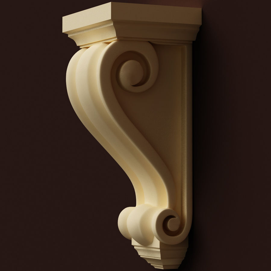 Corbel (M3) royalty-free 3d model - Preview no. 4