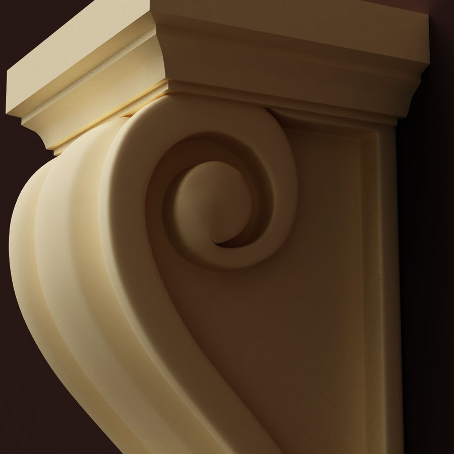 Corbel (M3) royalty-free 3d model - Preview no. 5