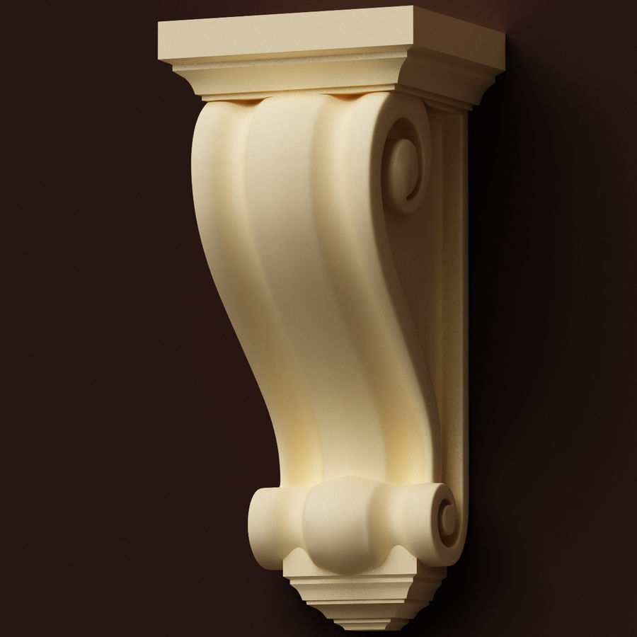 Corbel (M3) royalty-free 3d model - Preview no. 2