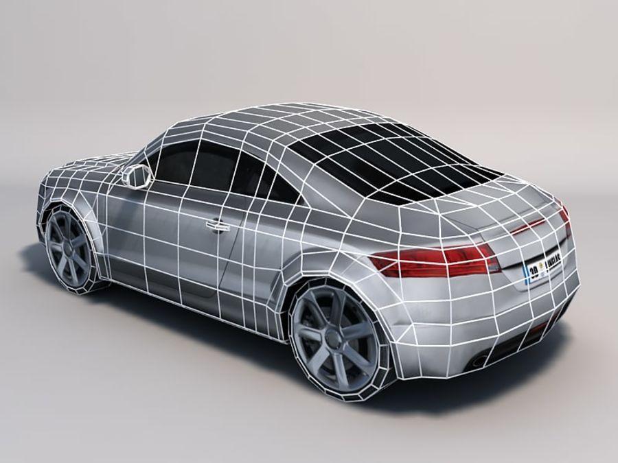 Автомобиль 01 royalty-free 3d model - Preview no. 4