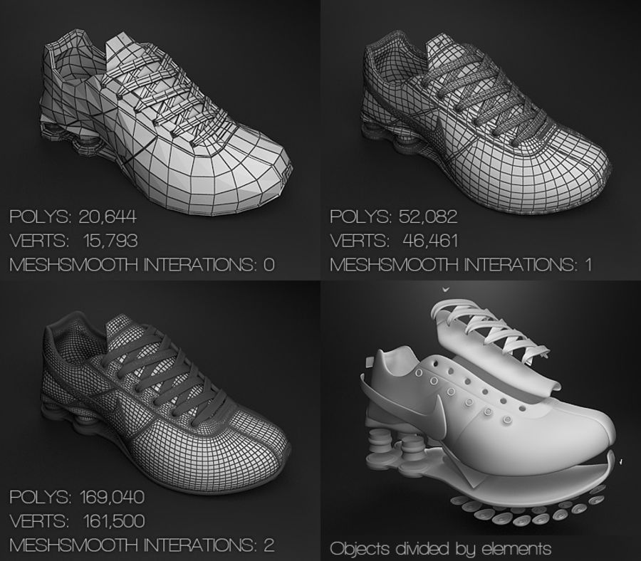 Sport shoes - sneakers royalty-free 3d model - Preview no. 5