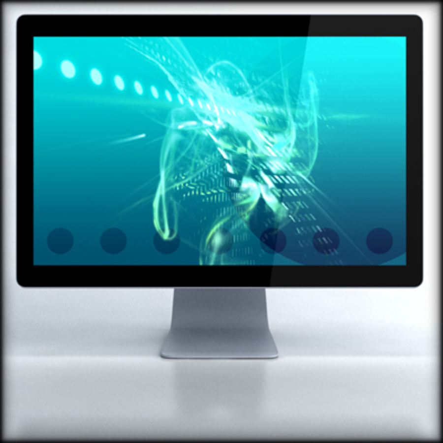 LED Cinema Display 24 inch royalty-free 3d model - Preview no. 1