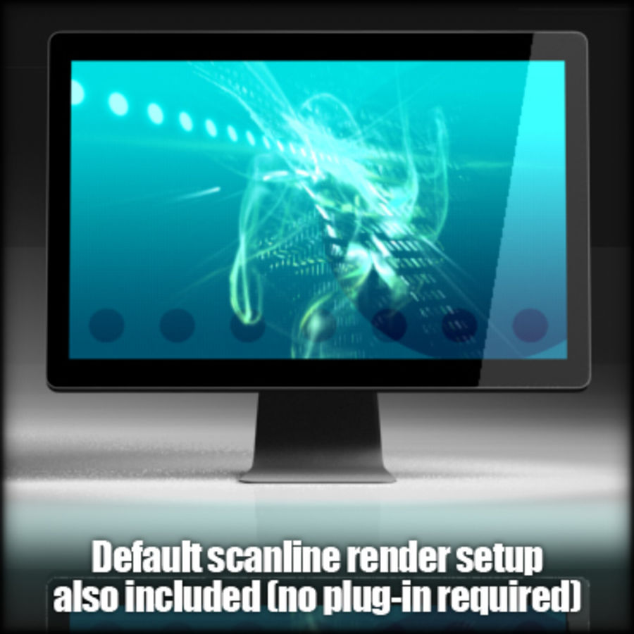 LED Cinema Display 24 inch royalty-free 3d model - Preview no. 10