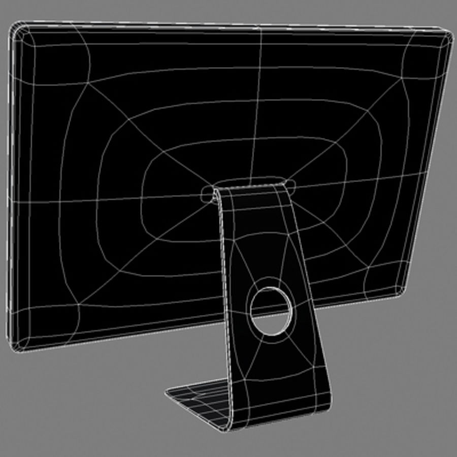 LED Cinema Display 24 inch royalty-free 3d model - Preview no. 12
