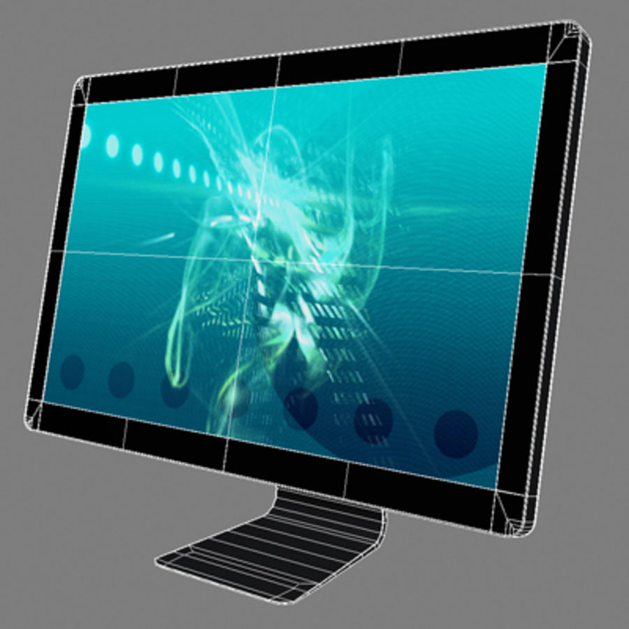 LED Cinema Display 24 inch royalty-free 3d model - Preview no. 5