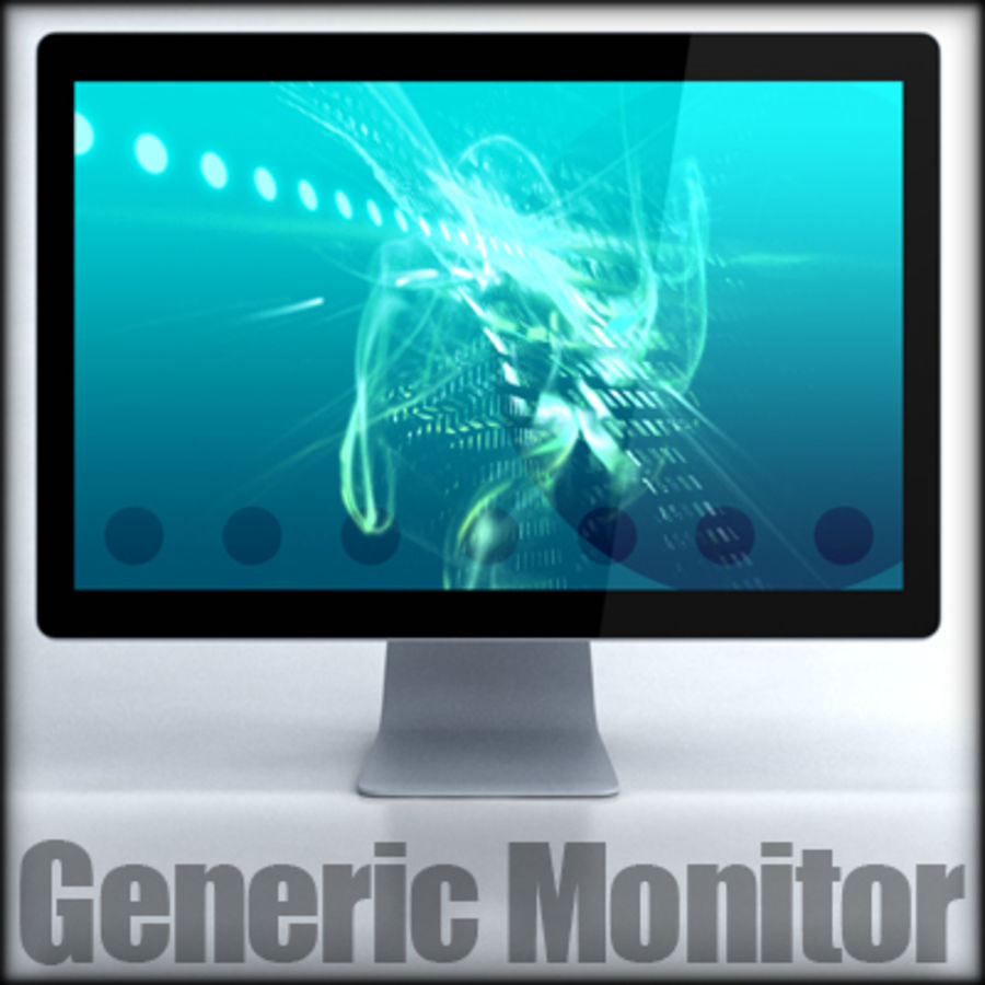 LED Cinema Display 24 inch royalty-free 3d model - Preview no. 2