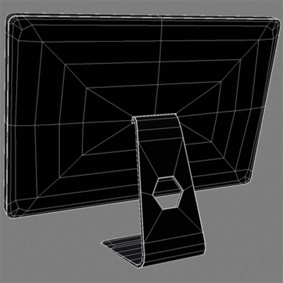 LED Cinema Display 24 inch royalty-free 3d model - Preview no. 11