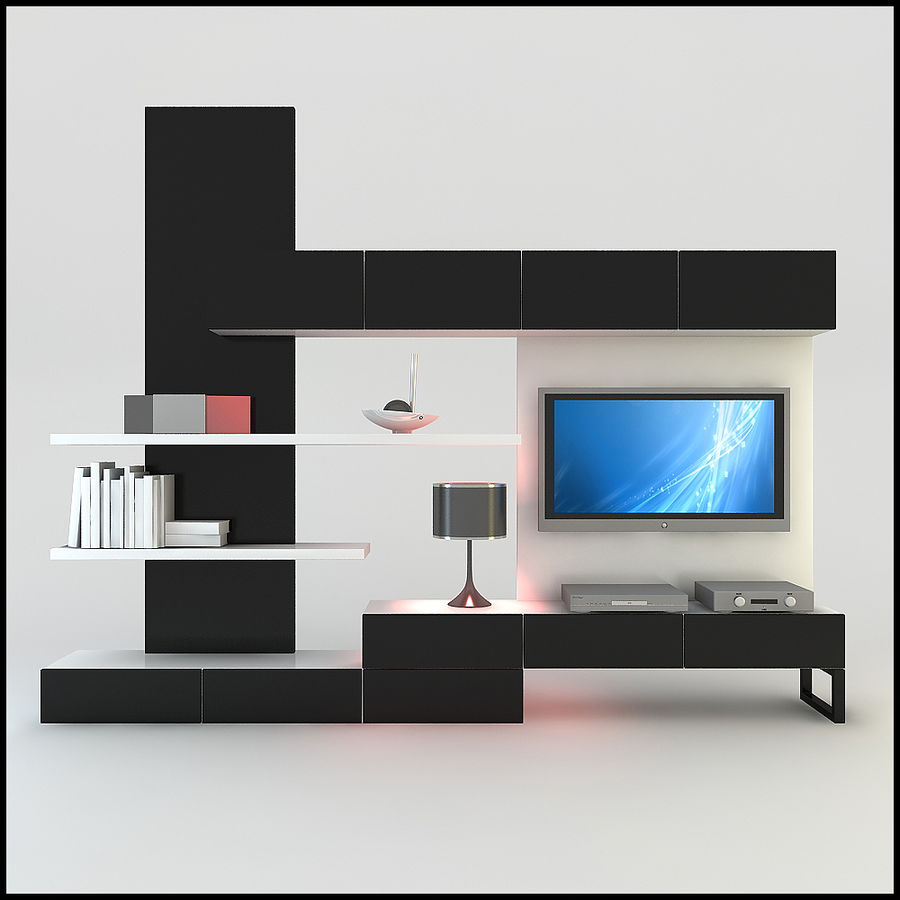 TV / Wall Unit Modern Design X_20 3D Model $49 -  unknown