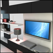 TV / Wall Unit Nowoczesny design X_20 3d model