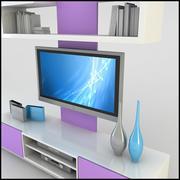 Mueble de TV / Pared Moderno Diseño X_19 modelo 3d