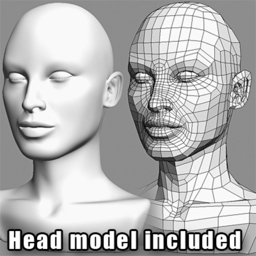 Hair Red royalty-free 3d model - Preview no. 6