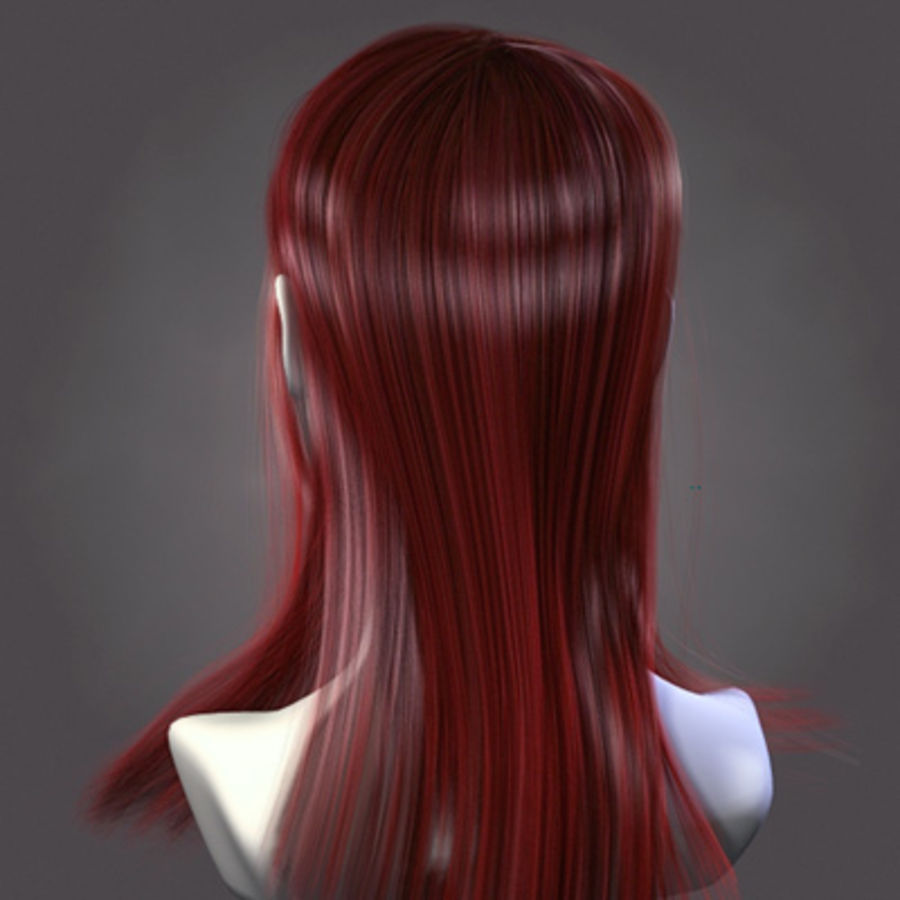 Hair Red royalty-free 3d model - Preview no. 4