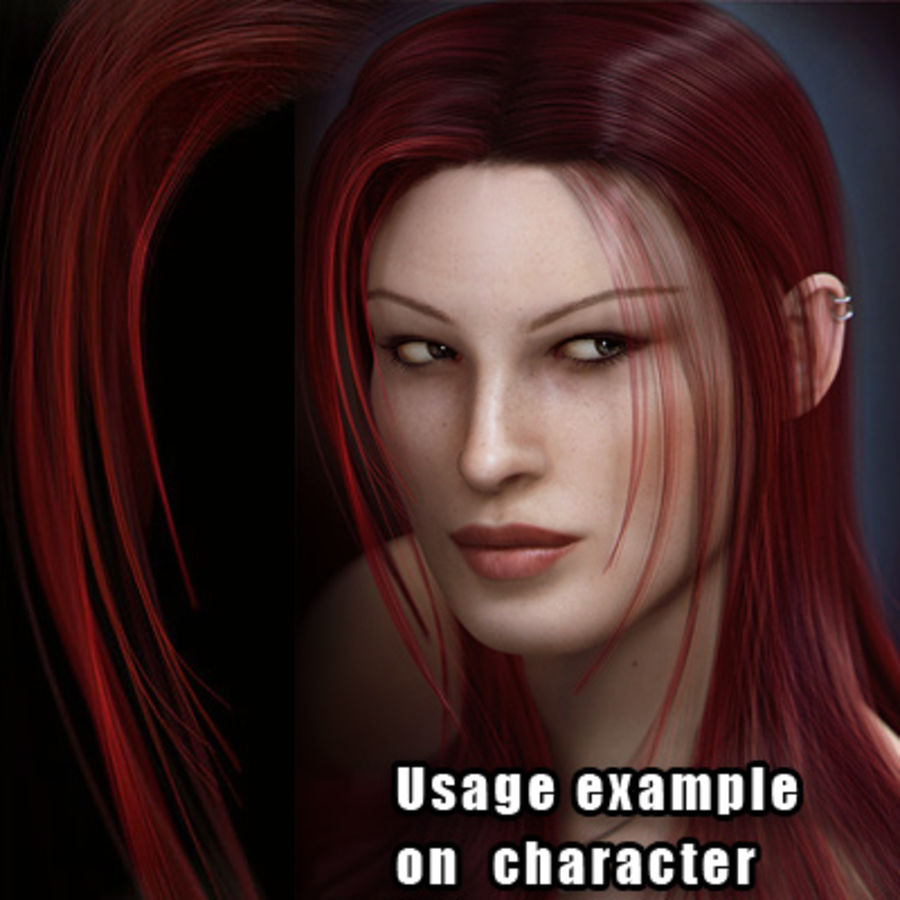 Hair Red royalty-free 3d model - Preview no. 11