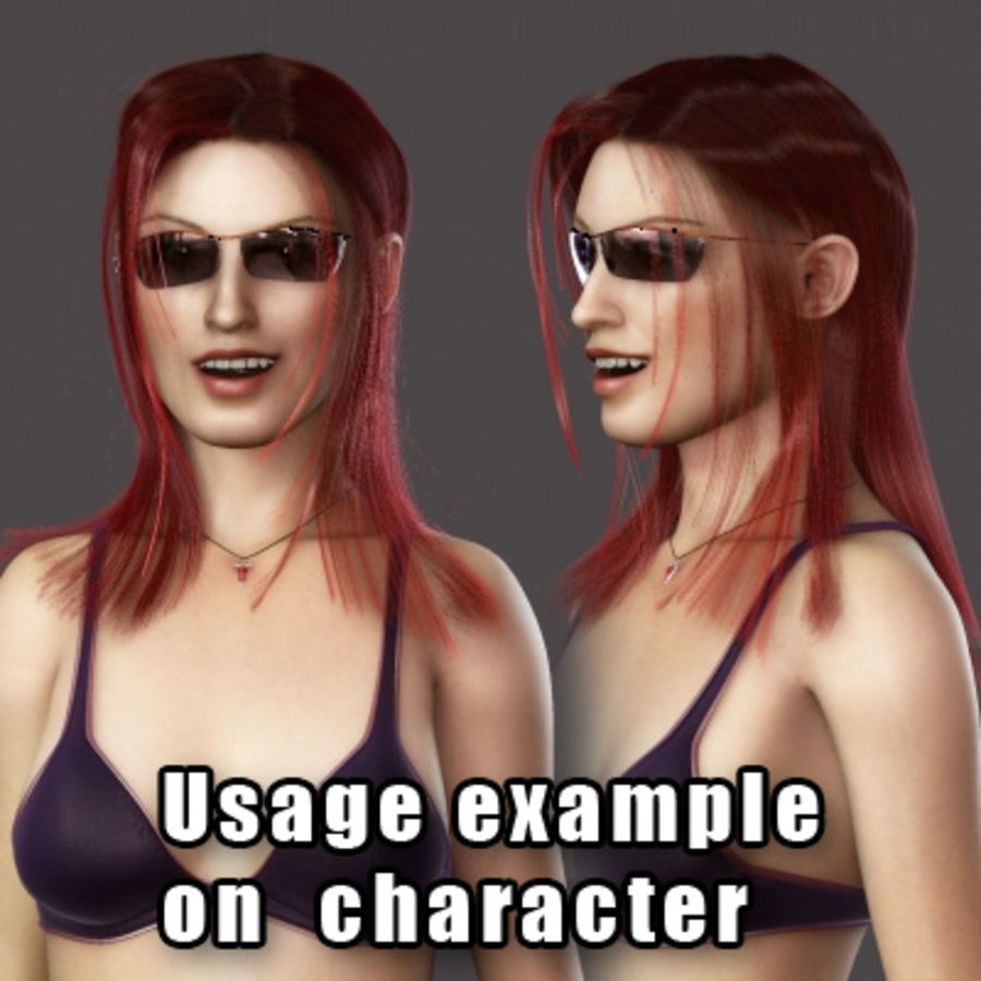 Hair Red royalty-free 3d model - Preview no. 9