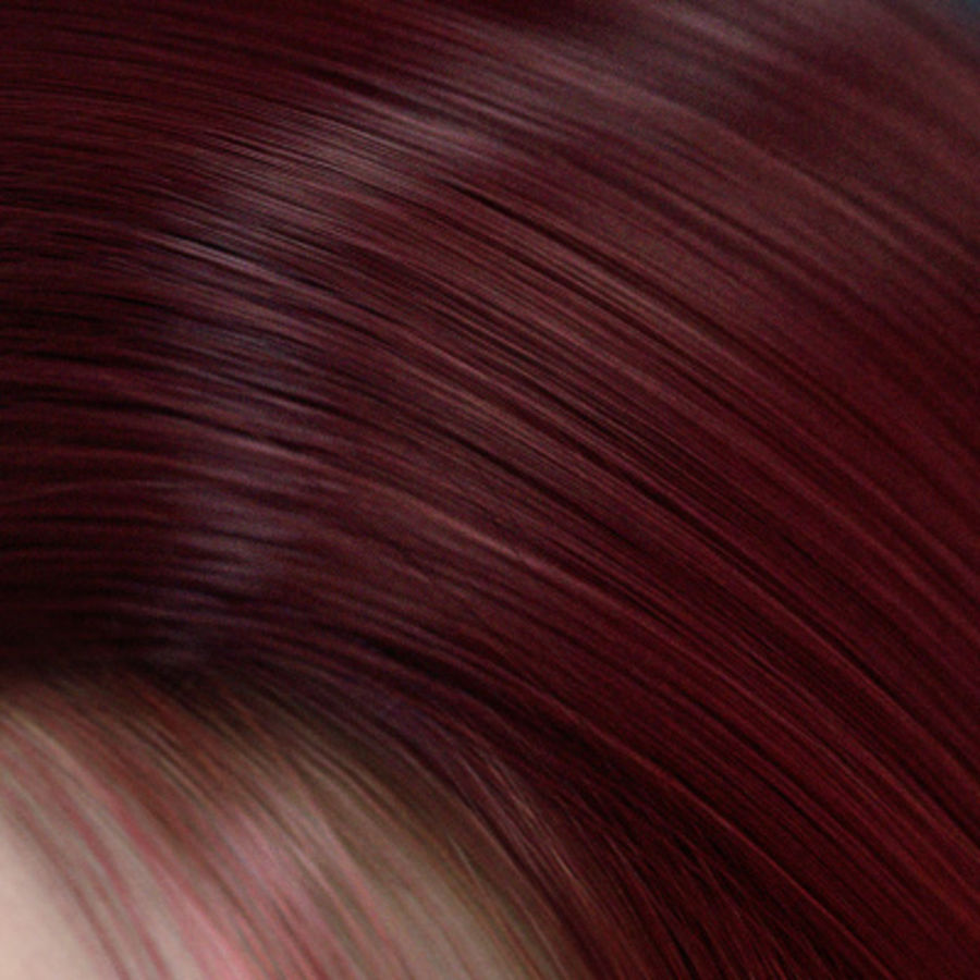 Hair Red royalty-free 3d model - Preview no. 12