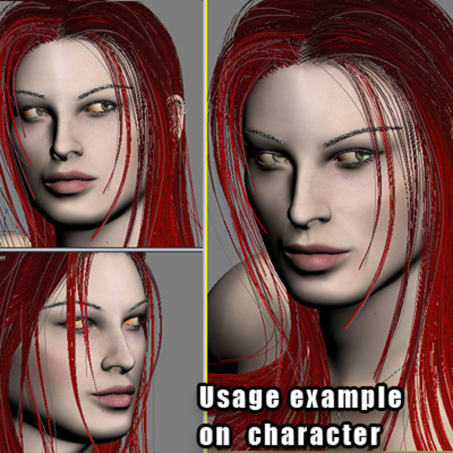 Hair Red royalty-free 3d model - Preview no. 10