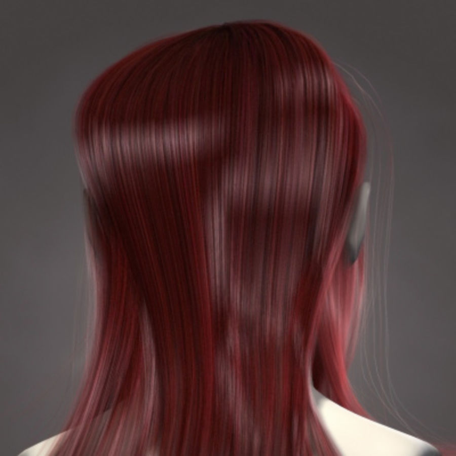 Hair Red royalty-free 3d model - Preview no. 5