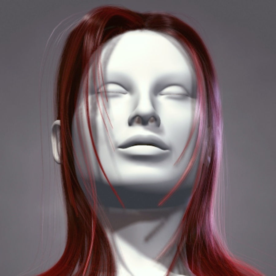 Hair Red royalty-free 3d model - Preview no. 1