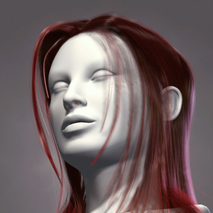 Hair Red royalty-free 3d model - Preview no. 2