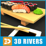 Sushi ingesteld door 3DRivers 3d model