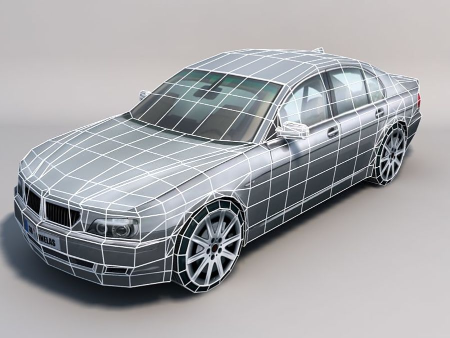 Автомобиль 02 royalty-free 3d model - Preview no. 2