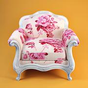 Barock Sessel in einzigartigem Stil 3d model