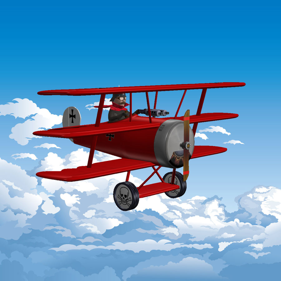 Red Baron royalty-free 3d model - Preview no. 2