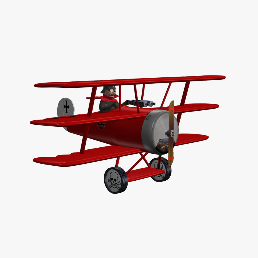 Red Baron royalty-free 3d model - Preview no. 3