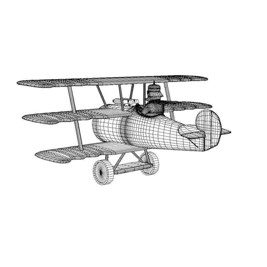 Red Baron royalty-free 3d model - Preview no. 6