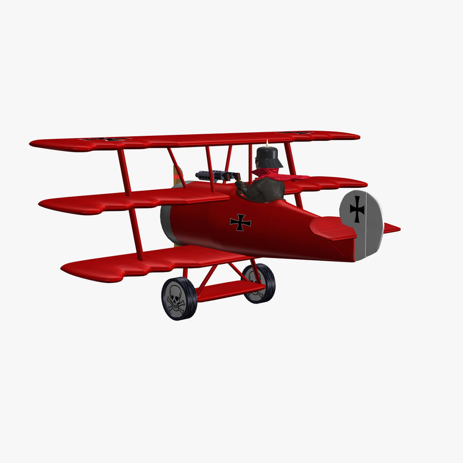 Red Baron royalty-free 3d model - Preview no. 4