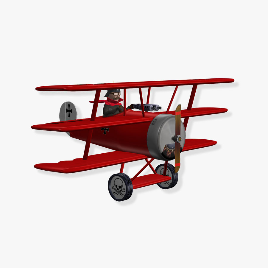 Red Baron royalty-free 3d model - Preview no. 1