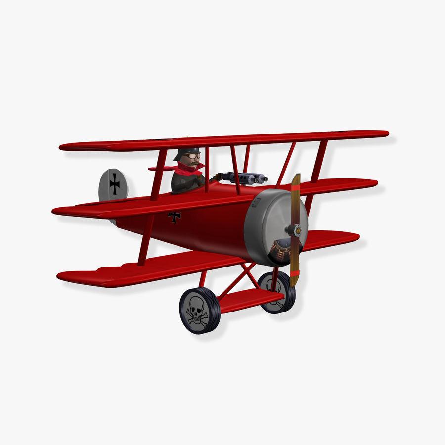 czerwony Baron royalty-free 3d model - Preview no. 1