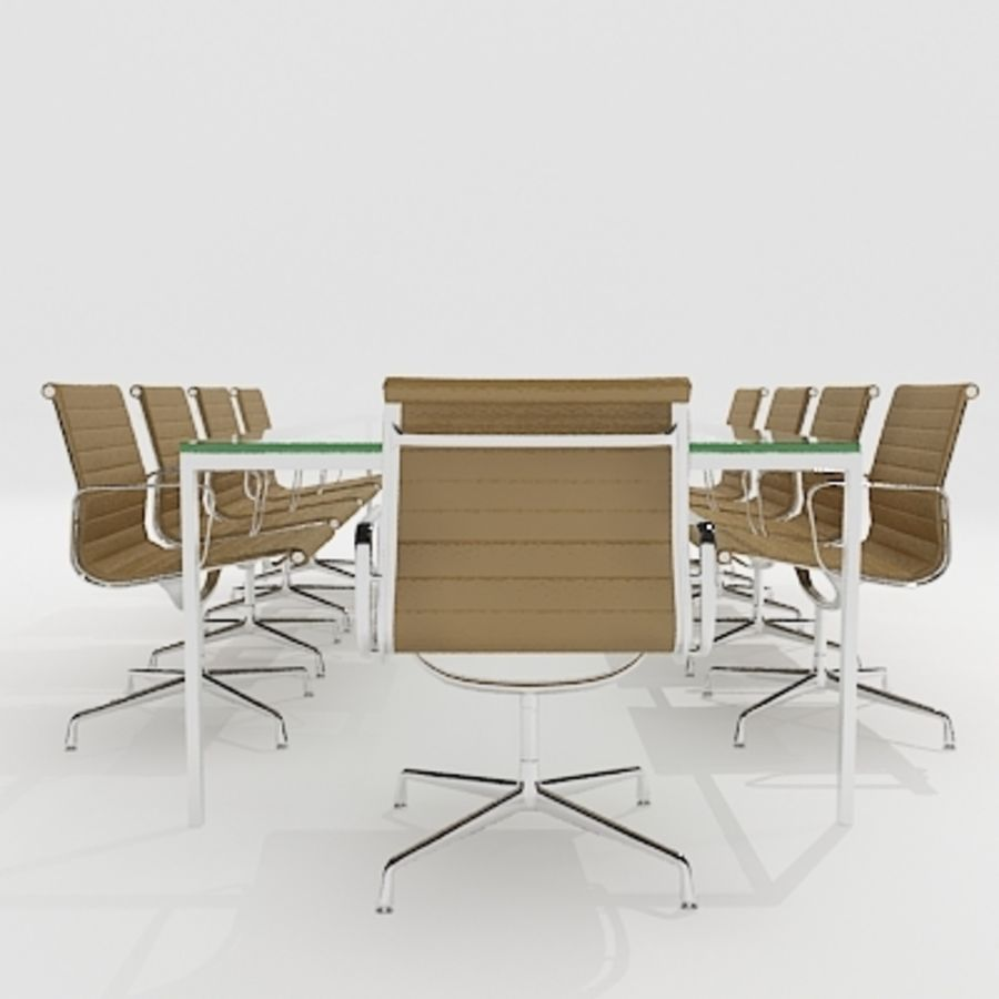 Meeting Room Furniture 04 royalty-free 3d model - Preview no. 2
