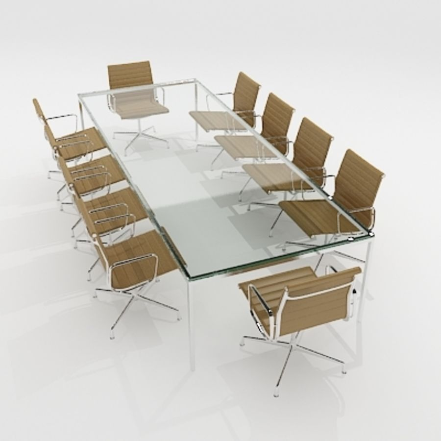 Meeting Room Furniture 04 royalty-free 3d model - Preview no. 3