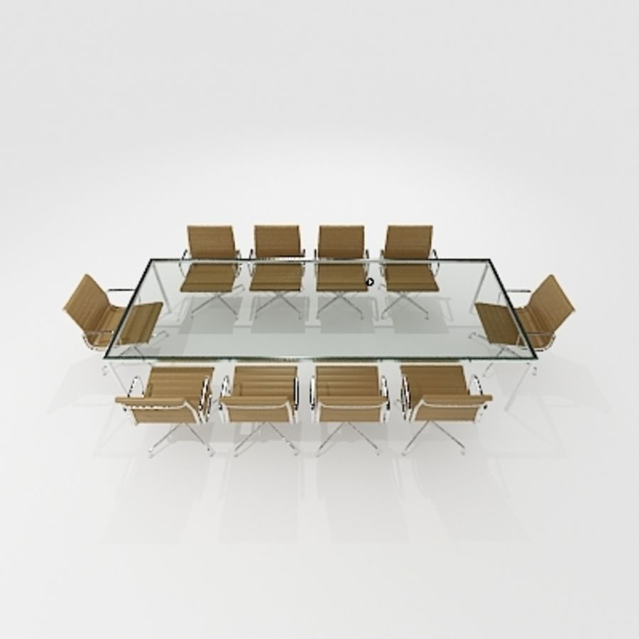 Meeting Room Furniture 04 royalty-free 3d model - Preview no. 4