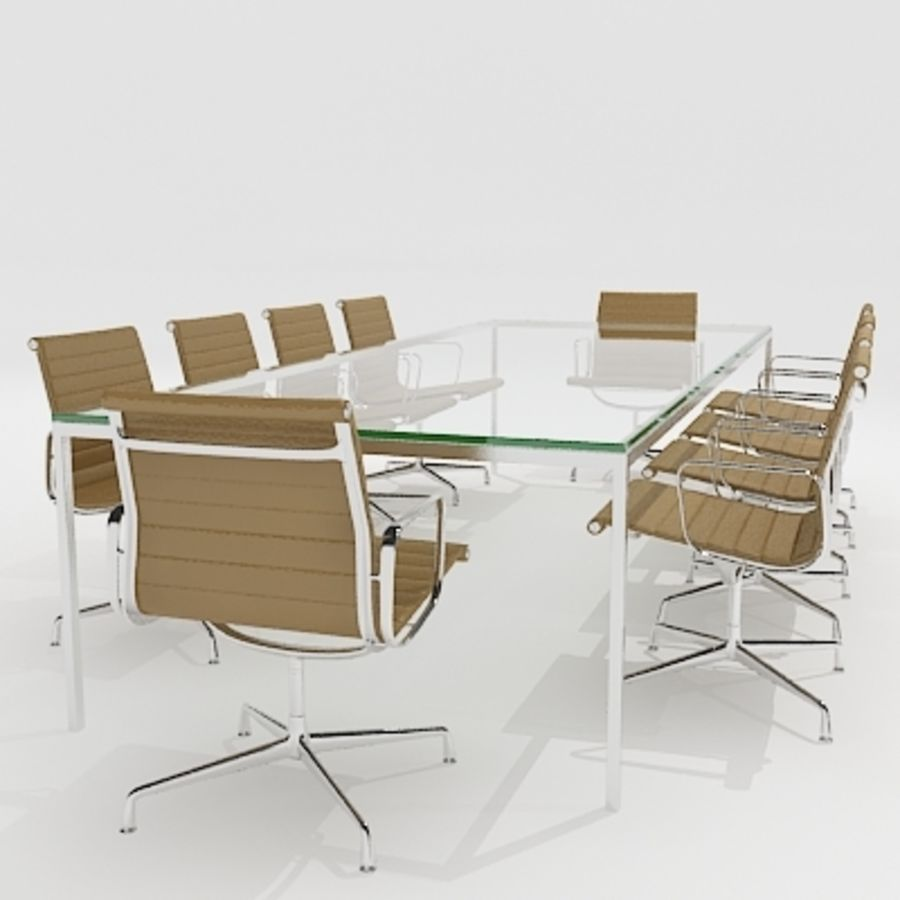 Meeting Room Furniture 04 royalty-free 3d model - Preview no. 1