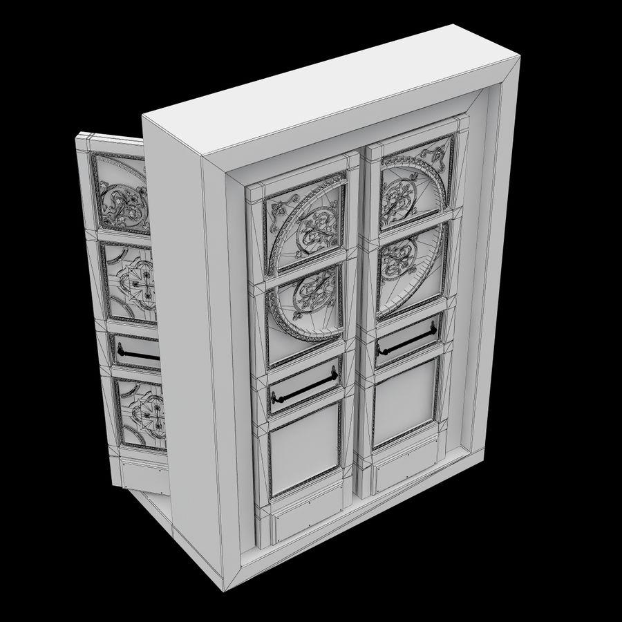 Front Door royalty-free 3d model - Preview no. 10