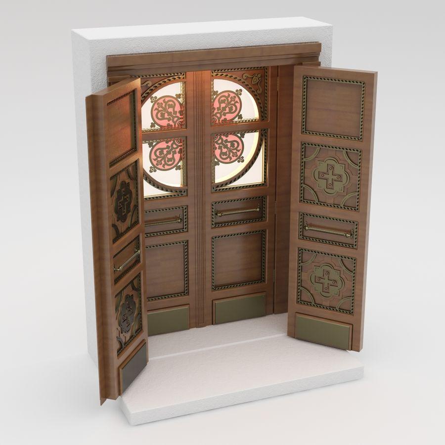 Front Door royalty-free 3d model - Preview no. 2