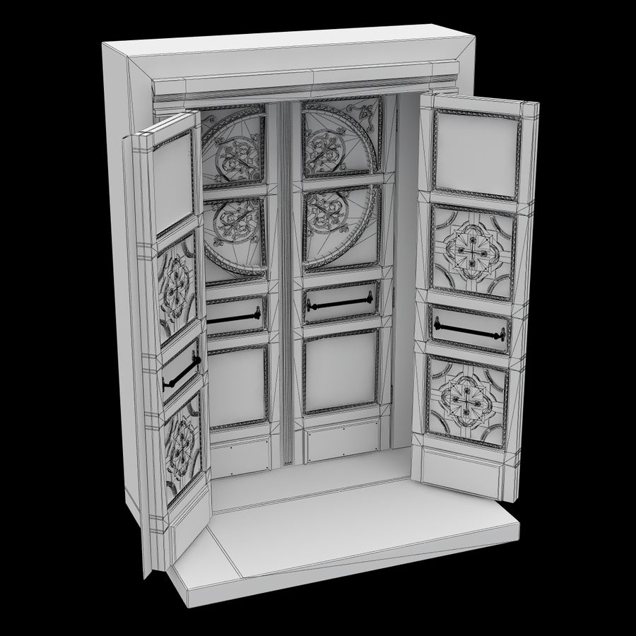 Front Door royalty-free 3d model - Preview no. 7