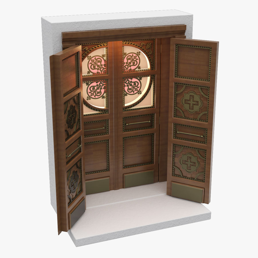Front Door royalty-free 3d model - Preview no. 1