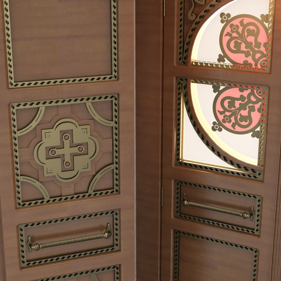 Front Door royalty-free 3d model - Preview no. 3