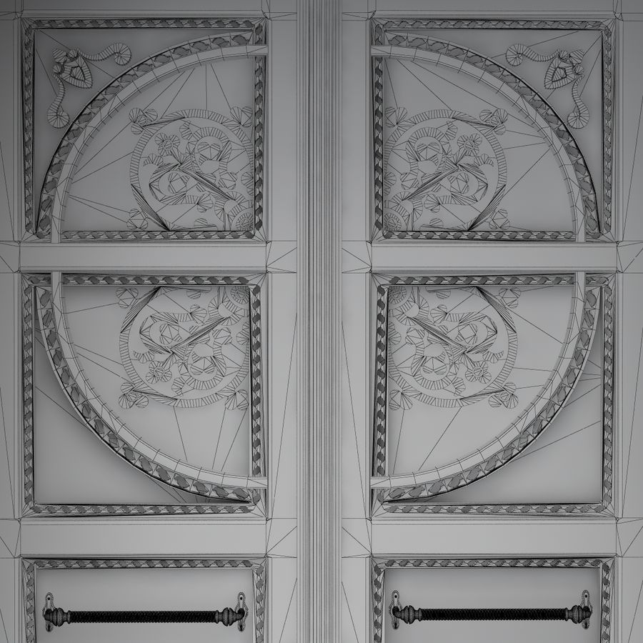 Front Door royalty-free 3d model - Preview no. 11