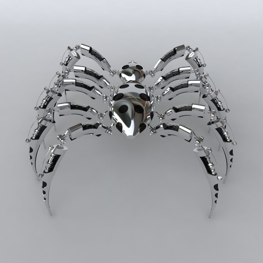 Robot Spider royalty-free 3d model - Preview no. 4