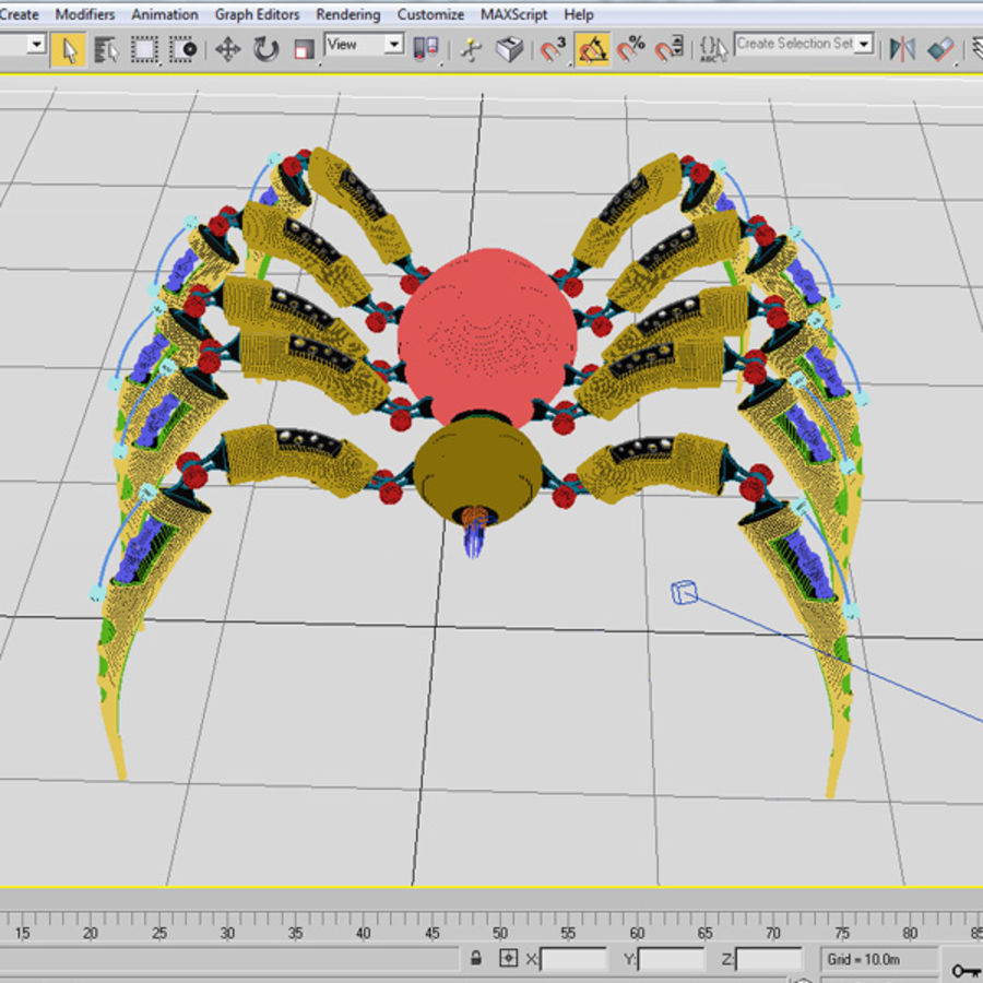 Robot Spider royalty-free 3d model - Preview no. 9