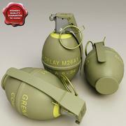 Grenade à fragmentation M26 3d model