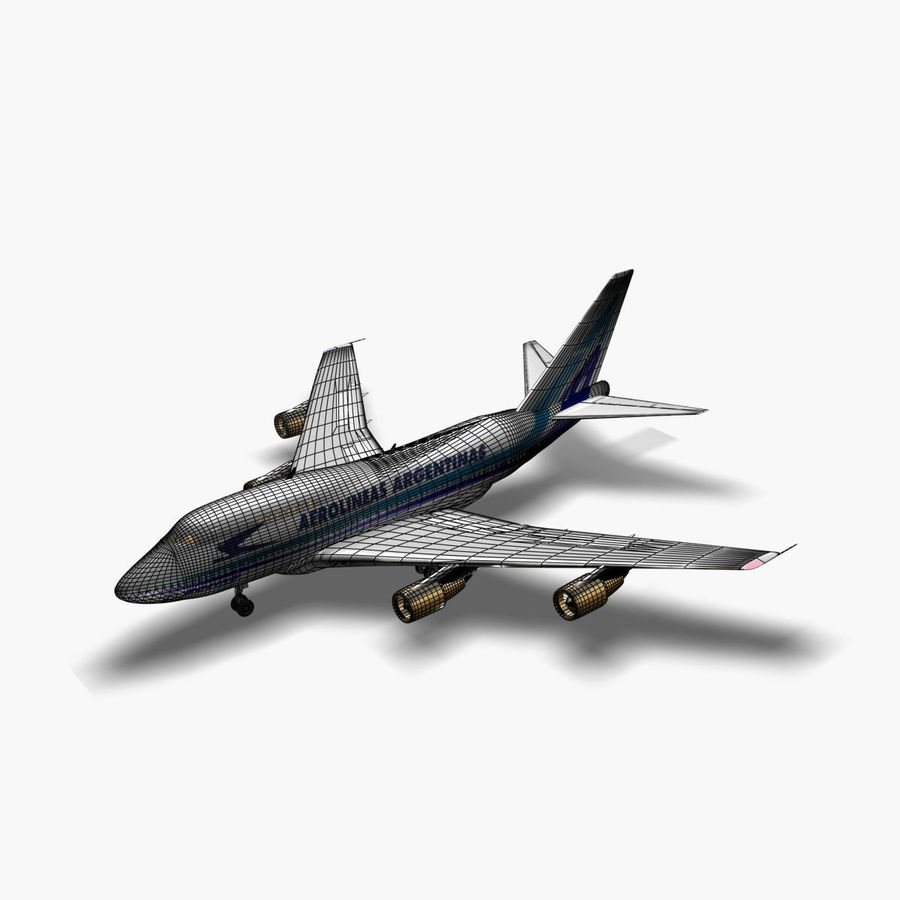 Aircraft Boeing 747 SP Jumbo Jet royalty-free 3d model - Preview no. 5