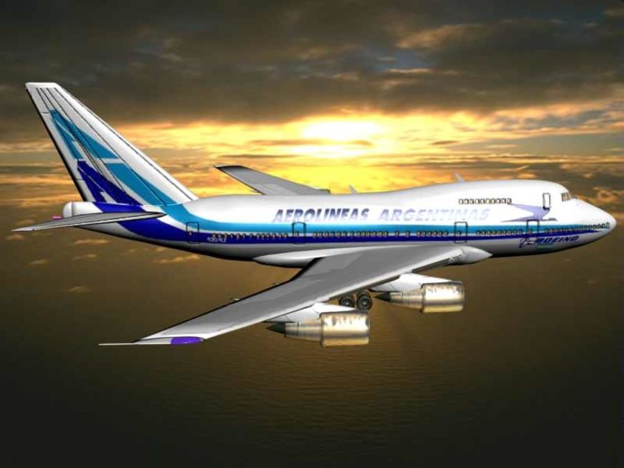Aircraft Boeing 747 SP Jumbo Jet royalty-free 3d model - Preview no. 8