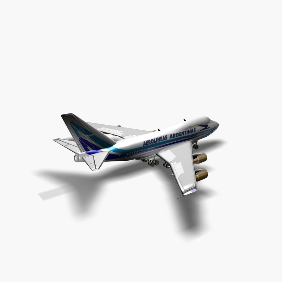 Aircraft Boeing 747 SP Jumbo Jet royalty-free 3d model - Preview no. 3